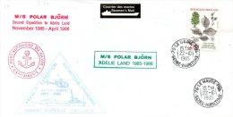 FRANCE. Enveloppe Commémorative De 1985. Polar Björn En Terre Adélie. - Terres Australes Et Antarctiques Françaises (TAAF)
