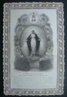 CANIVET DENTELLE XIXème(vers 1890) IMMACULEE CONCEPTION O MARIE CONCUE SANS PECHE  -  HOLY CARD SANTINO - Images Religieuses