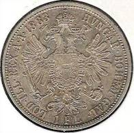 Kaiser Franz-Josef 1 Florin 1888: 12.34g - 900er-Silber  Fast Vz - Oesterreich