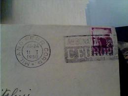 BUSTA 20  L DEM. ANNULLO TARGHETTA MILANO 1950 ABBONATEVI  A L´EUROPEO  EK6466 - Affrancature Meccaniche Rosse (EMA)