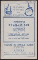 Genève Championnats Cantonaux De Gymnastique (1933) : Vernier 20 Pp + Couv. (21/14 Cm) (H 137) - Programmes