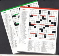 NEVIS WEST INDIES 2013 - MNH Crossword Puzze 100th Anniversary, 2 Miniature Sheets Block - West Indies