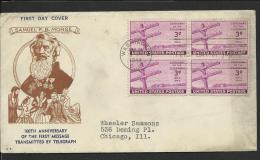 USA - 1944 100th Anniversary First Message By Telegraph First Day Cover - First Day Covers (FDCs)