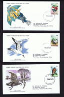1978   Birds Series: Hummingbird, Booby, Hawk   WWF FDCs With Inserts - Grenade (1974-...)