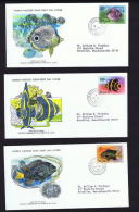 1978   Fish Series: Butterflyfish, Angelfish, Damselfish   WWF FDCs With Inserts - St.Lucia (1979-...)