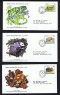 1979  Wildlife Series: Iguana, Manicou, Turtle   WWF FDCs With Inserts - St.Vincent & Grenadines