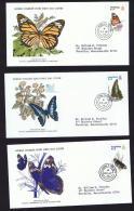 1979  Butterflies Series   WWF FDCs With Inserts - Hong Kong (...-1997)