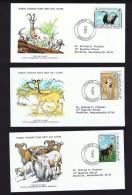 1978  Endangered Animals: Antelope, Gazelles, Barbary Sheep    WWF FDCs With Inserts - Mauritania (1960-...)
