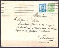 Lettre  De BULGARIE  Aout 1932  Pour  Un PROFESSEUR  A  TOULOUSE Affranchie Avec 2 Timbres - 1909-45 Royaume
