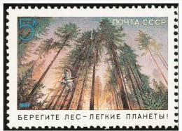 Russia  1989   Nature Conservation Birds Tree  Mnh 1v - Pájaros