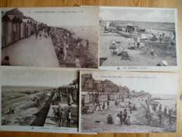 14 : Langrune-sur-Mer - 9 CPA Animées - Plage ( Marée Basse , Heure Du Bain , Cabines ...)  Digue , Hôtel Petit Paradis - Autres Communes