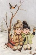 Christmas Fantasy Greeting Card Not Postcard, Singing Boys, Used As Per Scans 2scans 129 - Kerstmis