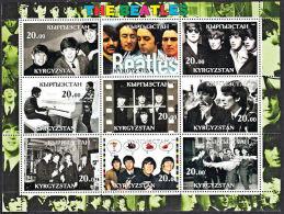 D0025 KYRGYZSTAN 2001, The Beatles M-sheet,  MNH (Pop Music) - Kyrgyzstan