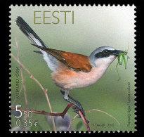 Estonia 2010 Set - Bird Of The Year: Shrike - Estonie