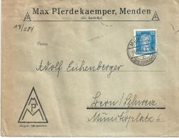 """Motiv Brief  """"Pferdekaemper, Menden""""            1927 - Deutschland"""