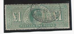 Grande-Bretagne : n�121 oblit�r�, sign� - 1 � vert