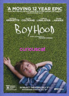 POSTCARD FILM CINEMA POSTER ADVERTISEMENT POSTCARD For The Film Movie  BOYHOOD With PATRICIA ARQUETTE ELLAR COLTRANE - Plakate Auf Karten