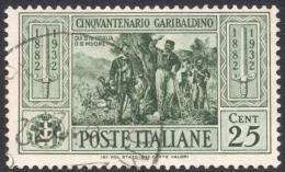 Italy, 25 C. 1932, Sc # 282, Mi # 393, Used - 1900-44 Vittorio Emanuele III
