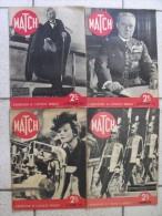 4 Revues Match 1938. Juste Avant La Seconde Guerre Mondiale. Paquebot Facteur Cheval Salon Auto Ford Juifs Pogrom Ciano - Books, Magazines, Comics