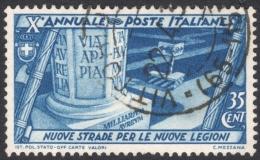 Italy, 35 C. 1932, Sc # 296, Mi # 421, Used - 1900-44 Vittorio Emanuele III