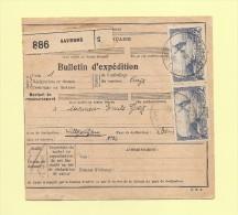 Bulletin D´expedition - 2f Moulin Alphonse Daudet - Saverne - 1937 - Marcophilie (Lettres)