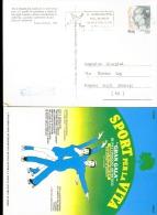 Cartolina Sport Per La Vita Ed Annullo Speciale Manifestazione Internazionale Di Pattinaggio Artistico - Pattinaggio Artistico