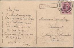 TP 200 Albert I Houyoux S/CP Collège St.Paul-Godinnes/meuse C.Convoyeur Train 1208+Griffe Annevoie PR875 - Postmark Collection