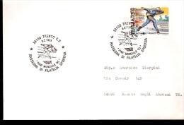BUSTA VIAGGIATA CON ANNULLO SPECIALE PINE´ MONDIALE 95 SHORT TRACK - Pattinaggio Artistico