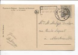 TP 280 S/CP C.Charleroi En 1931 + C.CF Mariemont Qui Sert De Griffe PR876 - Postmark Collection