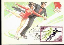PATTINAGGIO ARTISTICO - OLIMPIADI INVERNALI 1984 CON ANNULLO SPECIALE URSS - Pattinaggio Artistico