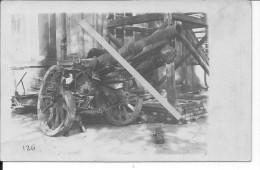 Pièce D´artillerie Allemande Canon De 105mm Tube éclaté 1carte Photo 1914-1918 14-18 Ww1 WwI Wk - War, Military