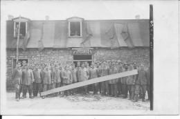 Caserne Allemande Du R.I.R 38 Casernement De Campagne Groupe De Soldats 1carte Photo 1914-1918 14-18 Ww1 WwI Wk - War, Military