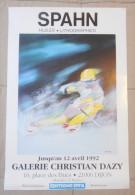Affiche 60x40 Victor Spahn Expo Gallerie Christian Dazy Dijon 1992 Tres Rare Bon Etat Livrée Roulée Port Offert - Plakate & Poster