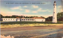 Glynn County Casino And Lighthouse St. Simons Island, Georgia - Etats-Unis
