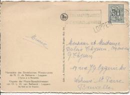 TP 1027 S/CP C.Brugge En 1958 + Griffe Loppem PR879 - Postmark Collection