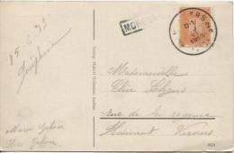 TP 108 S/CP Pensionnat Maria Hilf Moresnet C.Verviers En 1913+Griffe Encadrée Moresnet PR880 - Postmark Collection