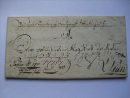 1833 AUSTRIA VORPHILA ENTIRE ROTTENBURG TO WIEN - ...-1850 Prefilatelía
