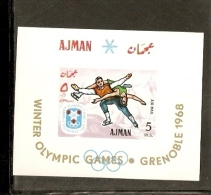 AJMAN STATE  ATISTIC SKATE DANCING  GRENOBLE 1968 OLIMPIC GAME - Pattinaggio Artistico