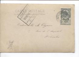 TP 53 S/CP C.Malines(Station) En 1903+c.CF Haecht(Haacht) Qui Sert De Griffe 23/12/1903 PR881 - Postmark Collection