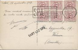 TP 851(6) S/CP La Maison Du Maquis C.Spa 1957 + Griffe Sart-Lez-Spa PR882 - Postmark Collection