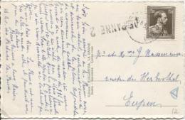 TP 845 S/CP C.Bruxelles En 1953 +Griffe De Panne 2 PR884 - Postmark Collection