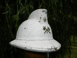 BEL ANCIEN CASQUE POMPIER BELGIQUE 1950  à Voir ............. - Pompiers