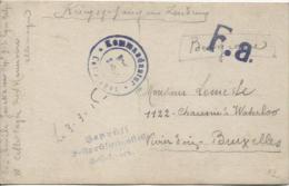 CP D'un PDG Belge Région D'Hannovre Censure Du Camp En 1916 Verso Photo De Soldats PR887 - WW I