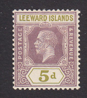Leeward Islands, Scott #74, Mint Hinged, King George, Issued 1922 - Leeward  Islands