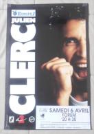 Affiche 60x40 Julien Clerc A Dijon Tres Rare Bon Etat - Plakate & Poster