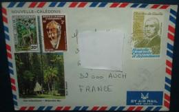 Sur Enveloppe Illustrée .PA 208+447+457de POINDIME Pour Roquelaure Gers.De Gaule,coquillage - Nieuw-Caledonië