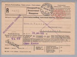 Motiv Geld Bank 1930-06-28 Solothurn Einzugsauftrag Mit Oval-Firmenfreistempel - Timbres