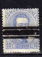 F 265   España Nº 122s Amadeo  Barrado - 1872-73 Reino: Amadeo I