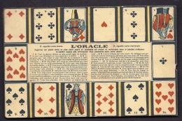 CPA  ANCIENNE FRANCE- L'ORACLE DES CARTES A JOUER- 14 CARTES TIRÉES AVEC INTERPRÉTATI0N- - Cartes à Jouer