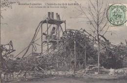 Evènements - Catastrophe Incendie - Bruxelles-Exposition - Décombres - Cachet Postal Gand 1910 - Catastrophes
